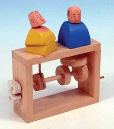 Cam toys are made with a circle (or square) of wood ...