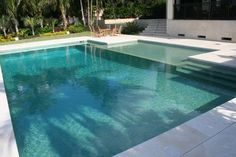 Pool tile Brushed Blue & Green Iridescent mediterranean swimming pools and spas