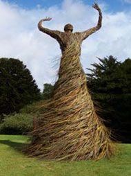 Willow sculpture by Scottish artist, Trevor Leat