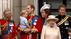 The heirs to the throne. Trooping the Colour 2015