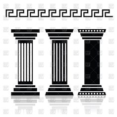 greek column vector silhouette - Google Search
