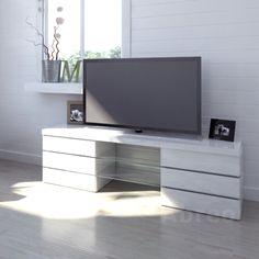 http://abreo.co.uk/living-room-furniture/modern-tv-stands/high-gloss-6-drawer #white #highgloss #tvstand