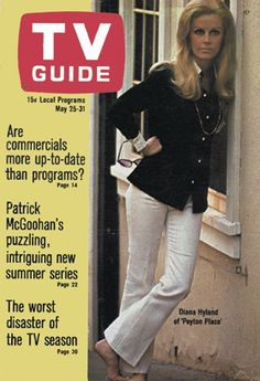 """TV Guide: May 25, 1968 - Diana Hyland of """"Peyton Place"""""""