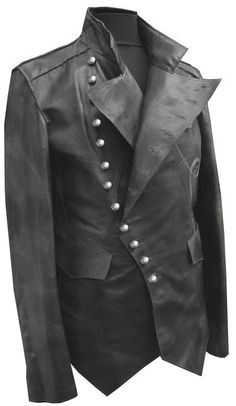 Steam punk military style leather jacket by customdesignmaster, $239.99