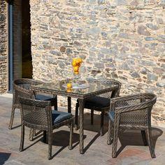 Salon de jardin Luxe SENAT en résine tressée accompagné de 2 fauteuils et 2 chaises de la marque Paris Garden