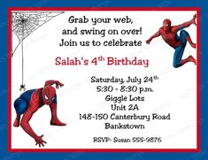 spiderman birthday invitations free printable spiderman in 2018