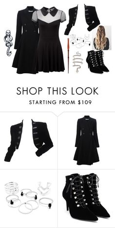 """""""Fem. Death Eater"""" by epiphany-of-life on Polyvore featuring Givenchy, Killstar and Balenciaga"""