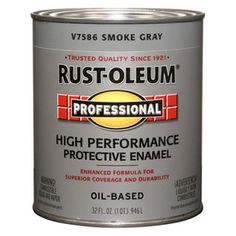 Rust-Oleum Quart Interior/Exterior Gloss Smoke Gray Paint and Primer in One