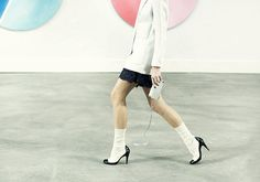 chanel - Wear socks and heals spring/summer 2014 (or going into this fall!)