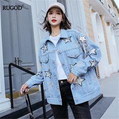 Autumn Coat, Jackets For Women, Clothes For Women, Tassel, Letter, Embroidery, Denim, Stars, Diamond