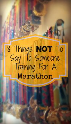SO TRUE! 8 things not to say to someone training for a marathon