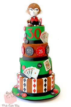 Surprise Birthday Poker Cake for 30th birthday party at LoLa Latin Bistro in Metuchen, NJ