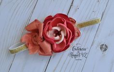 Stunning Amelia flower headband by Cuteness by Raquel VL ,  available over at The BowFairies $1 auction  https://m.facebook.com/pg/TheBowfairies/photos/?tab=album&album_id=10154882106758920&ref=page_internal&mt_nav=1