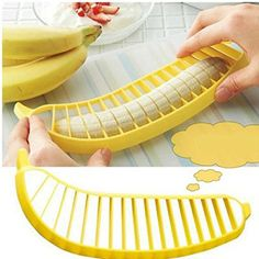 Practical PP Handle Plastic Banana Fruit Slicer Yellow * Check out the image by visiting the link.