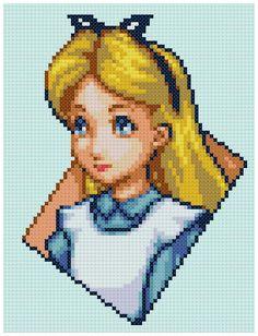 PDF Cross Stitch pattern 0233.Alice Alice in by PIXcross on Etsy