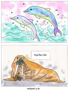 Walrus. #comic #funny #lol #animals