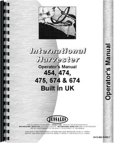 Find a farmall manual or browse ihc international technical farmall 574 tractor operators manual fandeluxe Image collections