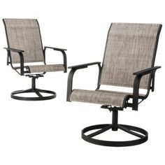 Threshold™ Linden 2-Piece Sling Patio Swivel Motion Dining Chair Set  ***for my deck.***