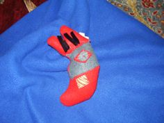 Ugly moon felt tactile doll for baby by TenderTatter on Etsy, $9.00