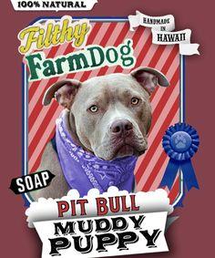 Pit Bull Muddy Puppy Dog Soap