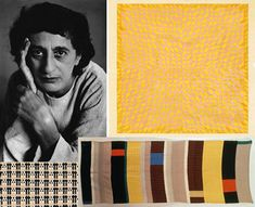 Textile designs by Bauhaus student Anni Albers Bursts of colour were woven into Anni's textiles with designs first detailed and laid out on paper using gouache paint. Anni Albers, Josef Albers, Bauhaus Textiles, Black Mountain College, Icelandic Artists, Little Stitch, Tapestry Weaving, Textile Artists, Color Theory