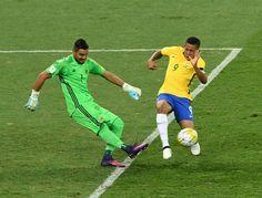 """Após quase marcar gol de placa, Jesus diz: """"Tem que ser um pouco abusado"""" #sportv"""