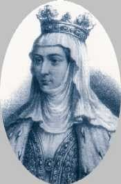 Margaret of Burgundy (1290 - 1315). Queen of France from 1314 to 1315 and Queen of Navarre from 1305 to 1315. She was the wife of Louis X and had one daughter with him. She was caught having in affair during the Tour de Nesle Affair. She was imprisoned for the rest of her life along with her sister-in-law, Blanche of Burgundy.