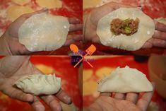I ravioli alla piastra sono buonissimi e veramente da fare. La ricetta ha le immagini che spiegano la piegatura nella forma classica. Provateli! Oriental, Asian Recipes, Ethnic Recipes, Sushi, Japanese, Breakfast, Ideas, Vegetarian, Shape