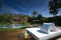 Sierra Blanca Marbella Villa Travel Luxury Life Pool side Sun bed www.bookmylifestyle.com