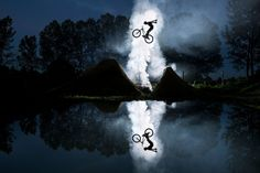 Emerging by Red Bull Photography  |  Jean-Baptiste Liautard joins the big leagues with this mirrored shot of Jeremy Berthier at his trail in Bourgoin-Jallieu, France.