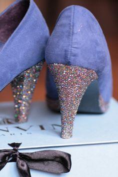 DIY talons de chaussures à paillettes