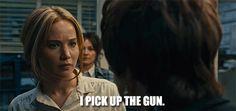 """Do you pick up the gun, Joy?"""