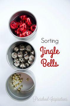 Sorting Jingle Bells by Preschool Inspirations