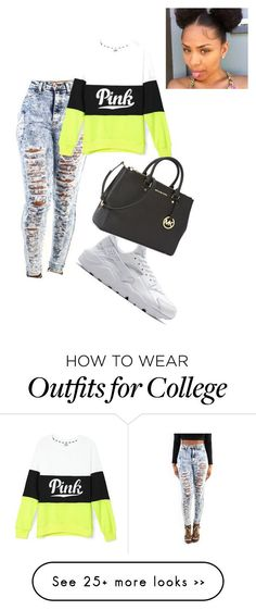 """Untitled #185"" by makaytoofly on Polyvore featuring NIKE and Michael Kors"