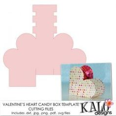 chocolate boxes template | Valentine's Heart Candy Box Template and Cutting Files ::... | Shop ...