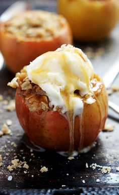 Apple Crisp Stuffed Baked Apples Recipe