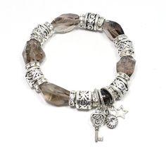 e Etsy listing at https://www.etsy.com/listing/201916104/smoky-quartz-bracelet-smoky-quartz-and