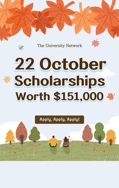 Here is a list of scholarships with October deadlines on The University Network. College Packing, College Hacks, College Life, Scholarships For College, College Students, College Survival Guide, January To December, College Application, My Prince Charming