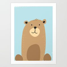 Buy Cute bear Art Print by nicholasgreen. Worldwide shipping available at Society6.com. Just one of millions of high quality products available.