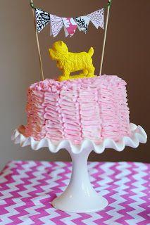 Darling cake topper Very Homemade blog