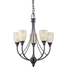 Forte Lighting 2278-05-32 5 Light Chandelier, Antique Bronze This product by Forte Lighting is offered in an antique bronze finish. Requires five 60-watt
