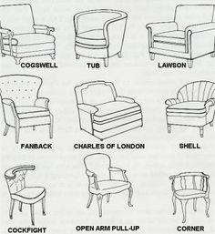 furniture period styles pictures | 40 Styles of Chairs | Prop ...