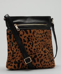 Leopard Leather Crossbody Bag
