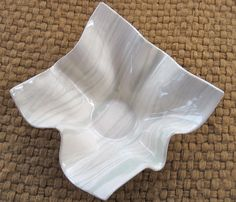 Slab Pottery Ideas | Handmade Ceramic Bowl - Hostess Gift Idea Slab Built Agateware Pottery ...