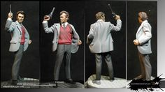 "Harry el sucio ""callahan"" Clay modeling Modelado escultura 54mm. Clint eastwood Pasta epoxi, ""Dirty Harry"""