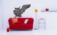 Owl Bird Animal Wings Flying Vinyl Decals Wall Art Sticker Home Modern Stylish Interior Decor for Any Room Smooth and Flat Surfaces Housewares Murals Design Graphic Bedroom Living Room (4245) stickergraphics http://www.amazon.com/dp/B00IOOXH86/ref=cm_sw_r_pi_dp_WLUVtb0AV1ZRTVD1