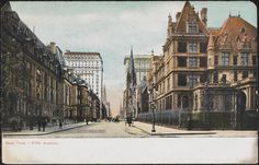 Fifth Avenue - Cornelius Vanderbilt House on right - Museum of the City of New York