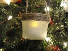 rustic lace twine christmas tree | lantern ornaments