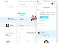 Loan Progress and User Profile by Nash[At]Work #Design Popular #Dribbble #shots