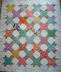 Snowball Star by Carol of Fun Old Hag, she is such a talented quilter ~ Reproduction Quilt Star Quilts, Scrappy Quilts, Easy Quilts, Quilt Block Patterns, Quilt Blocks, Applique Patterns, Quilting Projects, Quilting Designs, Quilting Ideas